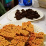 Free vegan, vegetarian and meat flapjacks and chocolate brownies