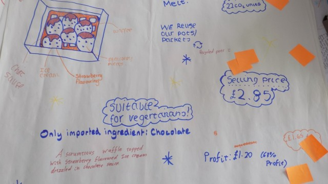 The Chokolada Melt ice cream design in the food worksop