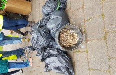 Yuk look at all those cigarette butts - the most frequently dropped litter items in Worcester