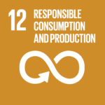 Graphic icon by the United Nations to illustrate Responsible Consumption and Production, SDG 12
