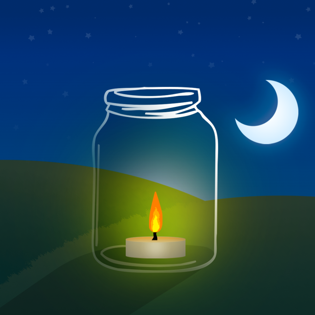illustration by Joe Toft to show ideas to reuse glass jars as lanterns