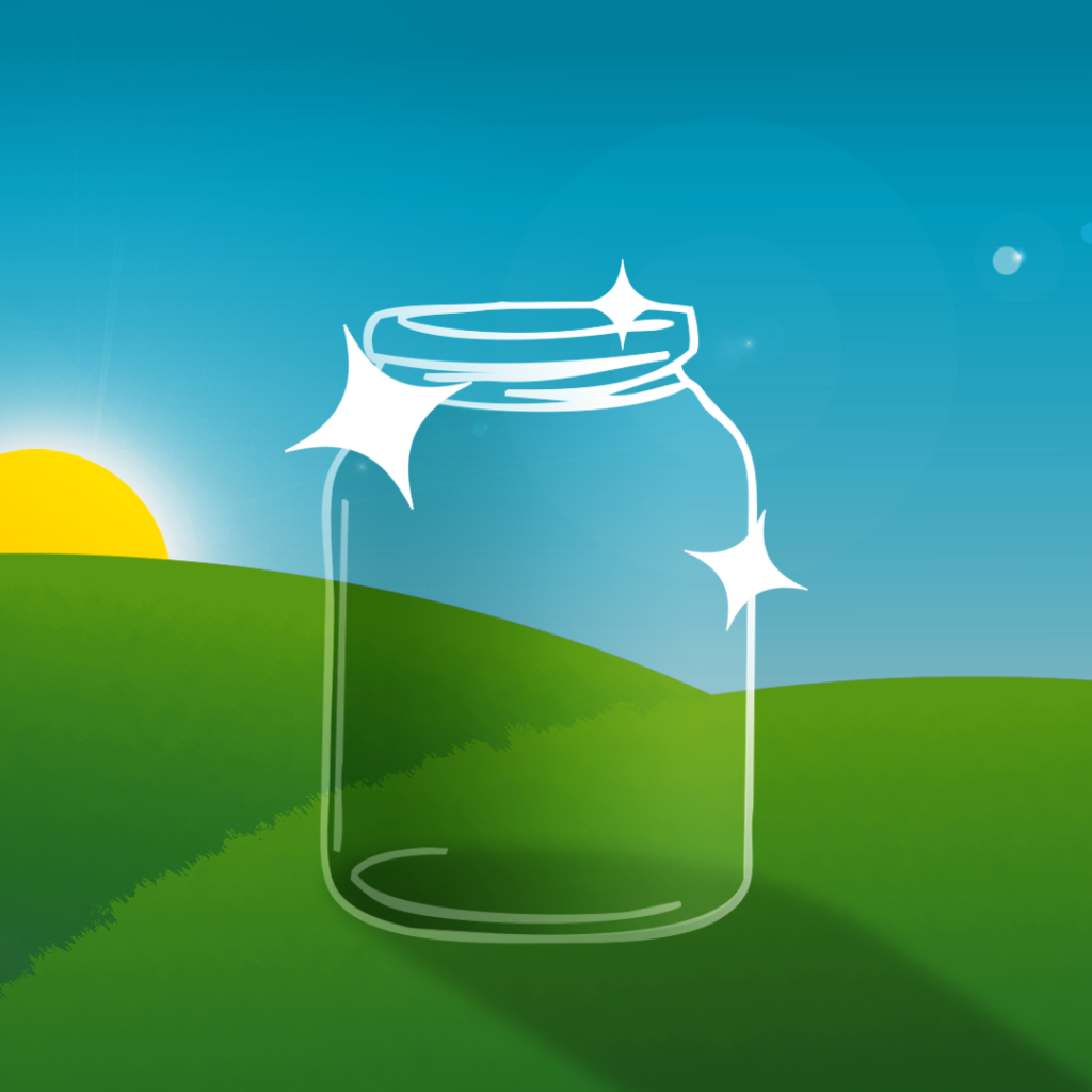 illustration by Joe Toft to show a ready to reuse clear glass jar
