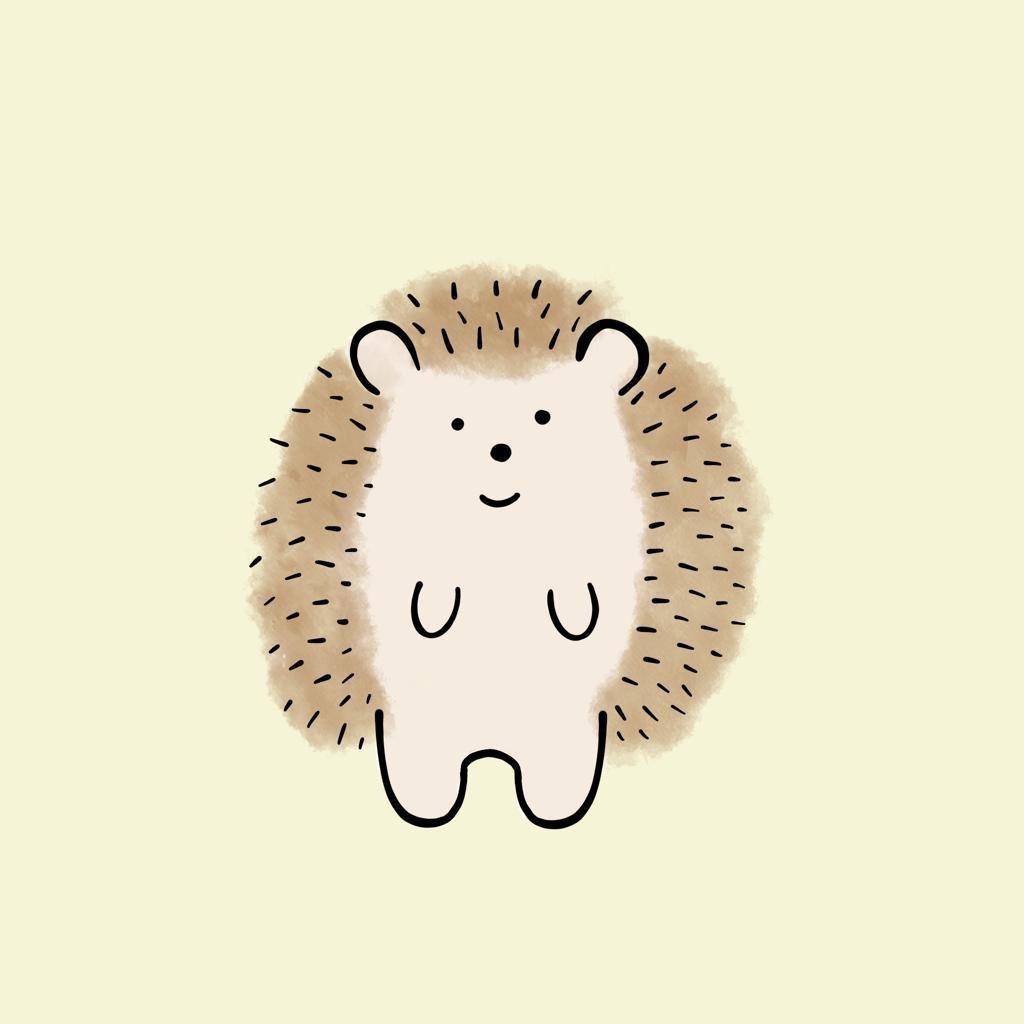 Illustration-to-show-a-hedgehog